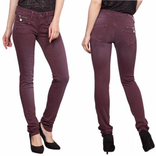 jean Freeman T Porter Alexa slim femme magic color violet bordeaux sassafras