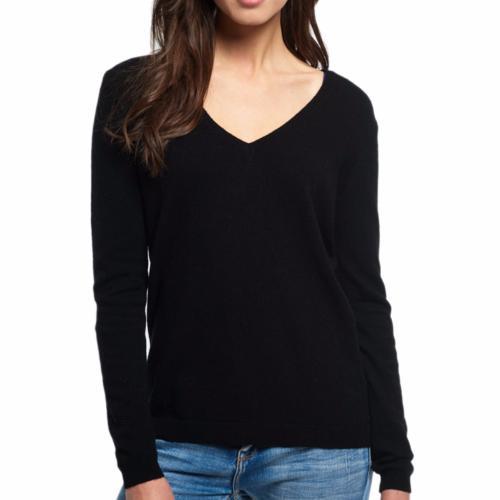 Pull Femme Superdry Premium en laine et cachemire noir