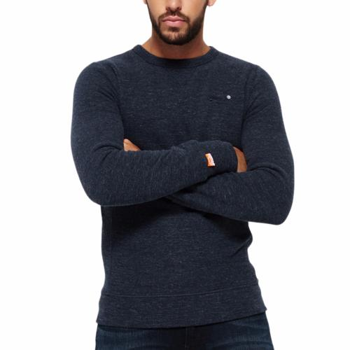 Sweat Superdry homme Orange Label gris bleu