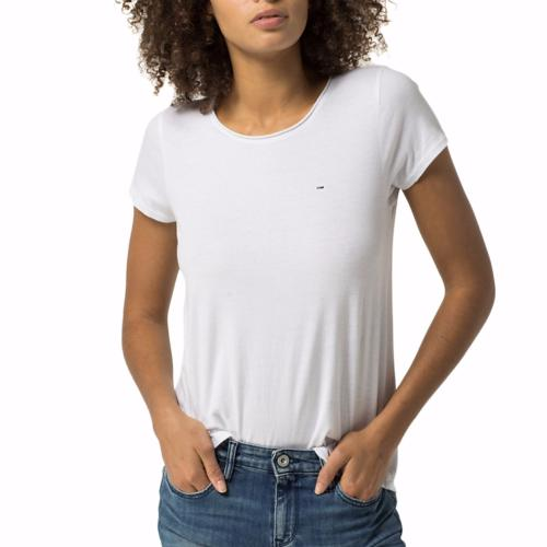 Tee Shirt femme Tommy Hilfiger Jeans blanc
