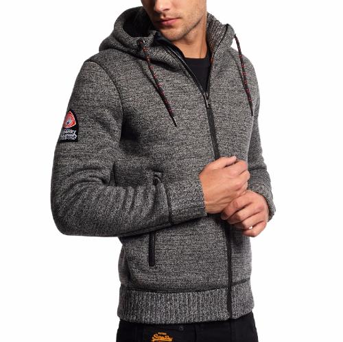 Chaqueta Superdry Hombre polar Expedition Ziphood Modelo Forro gris 54ALRjqSc3
