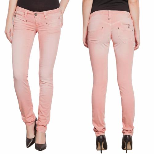 Jean Freeman T Porter femme  Alexa Magic Color rose coupe slim