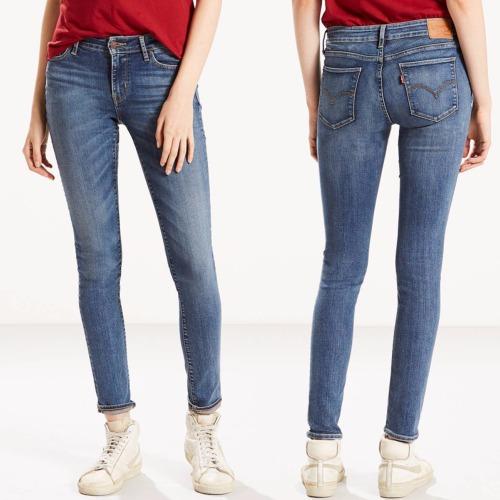 jeans levi 39 s femme 711 skinny taille mi haute antiqued. Black Bedroom Furniture Sets. Home Design Ideas