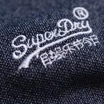 Polo Superdry homme Vintage Destroyed bleu