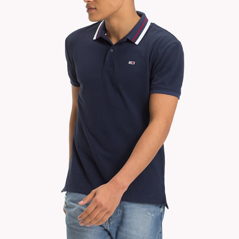 Polo Tommy Hilfiger Jeans homme bleu marine
