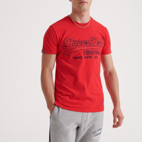 T Shirt Superdry Downhill Racer Tee rouge