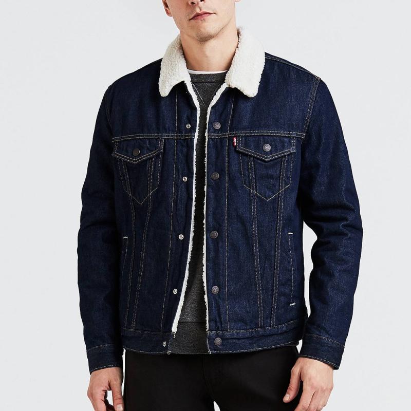 Blouson en jean doublée sherpa Levi's ® homme trucker rockridge