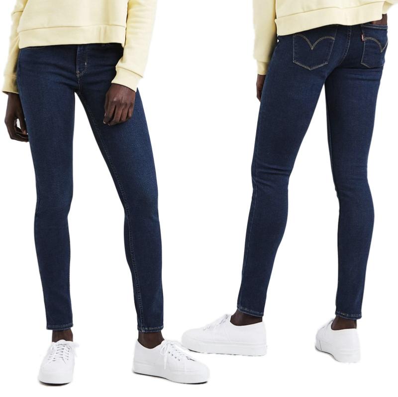 jean femme levis 710 innovation super skinny essential blue. Black Bedroom Furniture Sets. Home Design Ideas