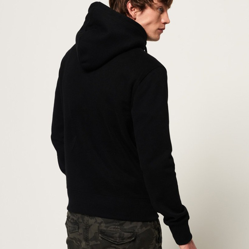 Sweat capuche Superdry homme Collective Hood noir