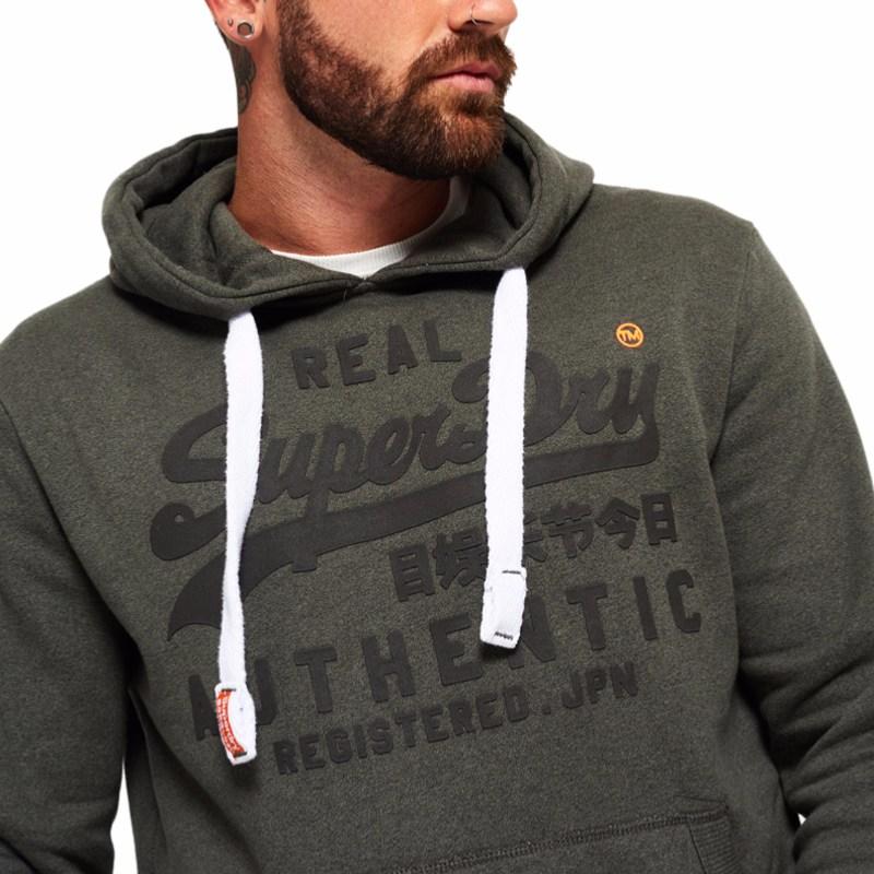 Sweat à capuche Superdry homme authentic tonal hood gris