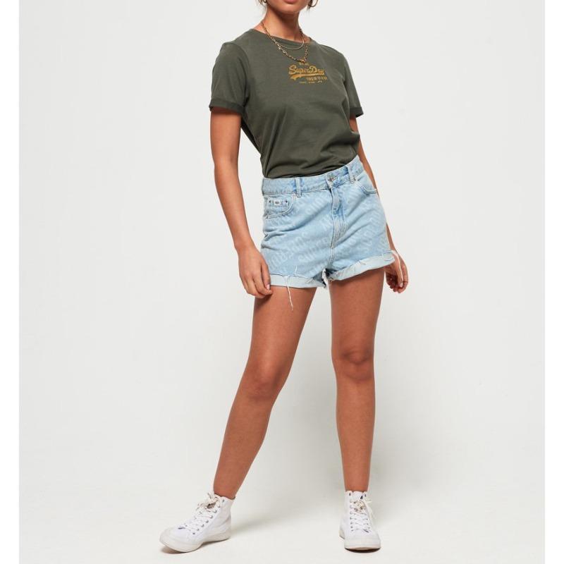 T Shirt Superdry femme kaki dusty olive