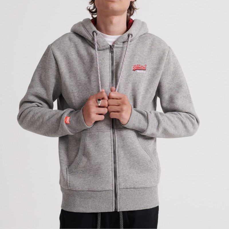 manteau superdry grise