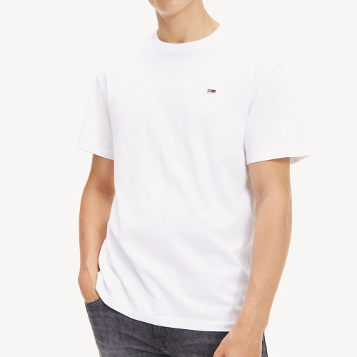 T Shirt blanc Tommy Hilfiger / Tommy Jeans homme