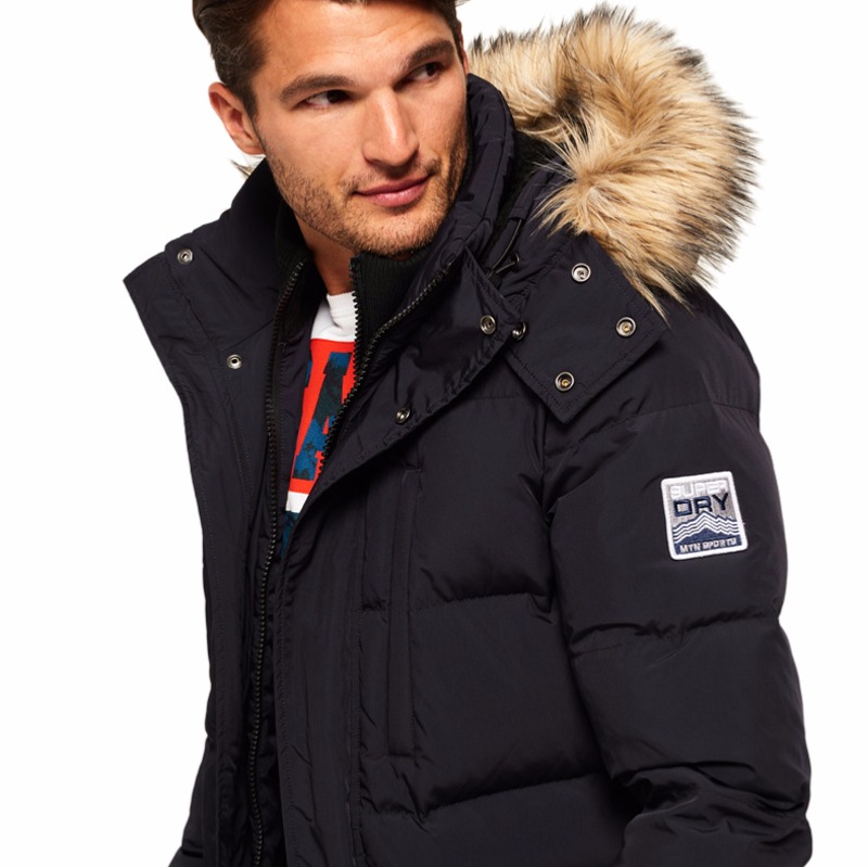 Doudoune Marine Homme Parka Expedition Longue Superdry YqR0wxZY