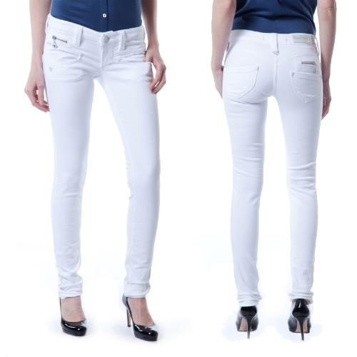 jean femme Freeman T Porter Alexa slim magic denim blanc