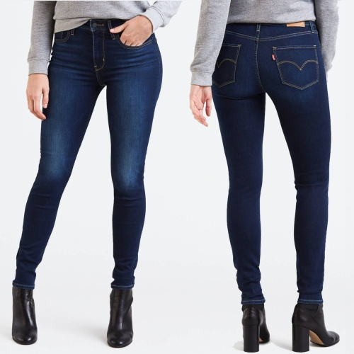 90dbe39c2 Jean Levis femme 721 Arcade Night skinny taille haute