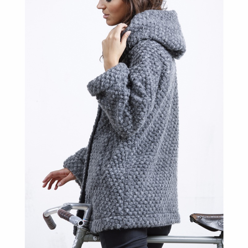 Manteau en laine Freeman T Porter Daniela wood mix femme