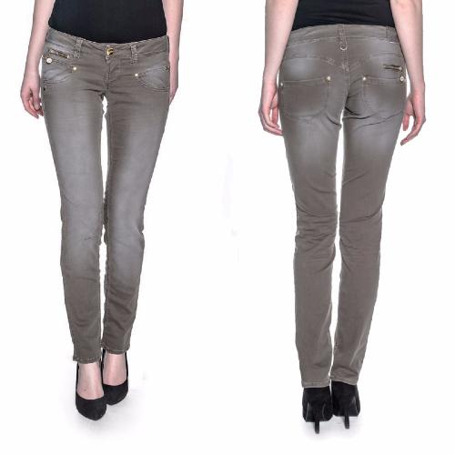 jean Freeman T Porter Alexa slim femme magic color marron kaki mokka