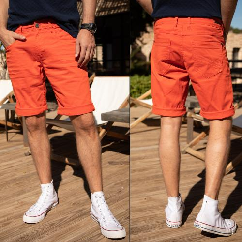 Short Freeman T Porter homme Jimmy Neach orange