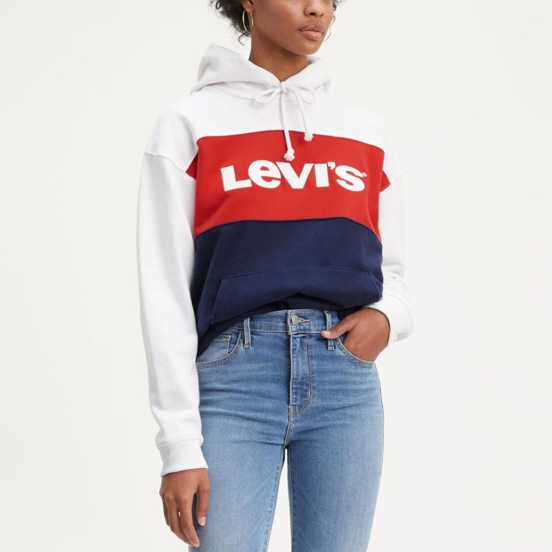 384a1d7305d Sweat Levis femme Colorblock Sportswear bleu marine