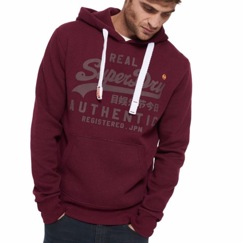 Sweat à capuche Superdry homme authentic tonal hood bordeaux
