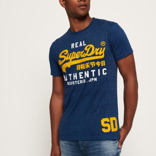 T Shirt homme Superdry Vintage Authentic Duo Tee bleu