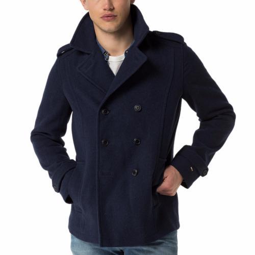 ... caban homme tommy hilfiger denim drap de laine bleu marine ... 77b733a780a2