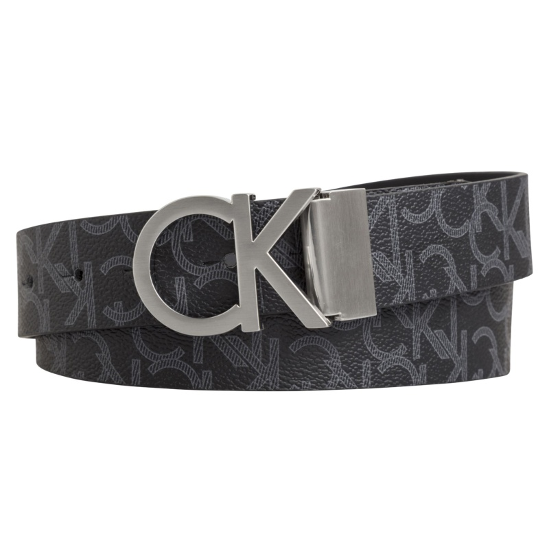 acheter populaire c6722 89acf Ceinture réversible Calvin Klein Jeans en cuir noir avec boucle Ck