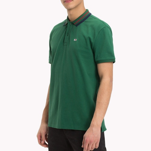 Polo Tommy Hilfiger Jeans homme vert hunter green