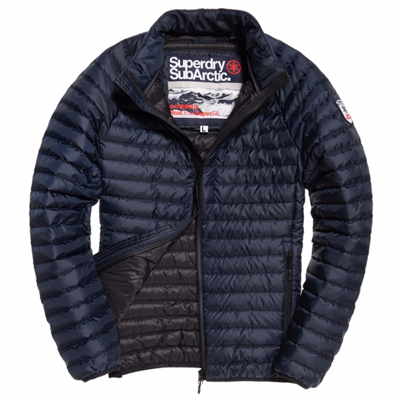 énorme réduction 94e00 166df Doudoune en duvet Superdry homme modèle Core Down Jacket bleu marine