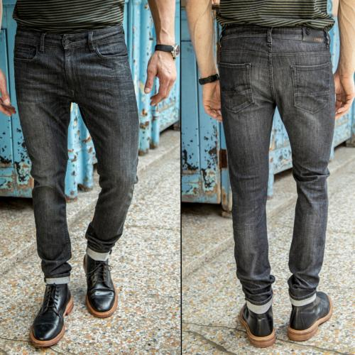 Jean homme Freeman T Porter Dustee slim gris dark grey en promotion