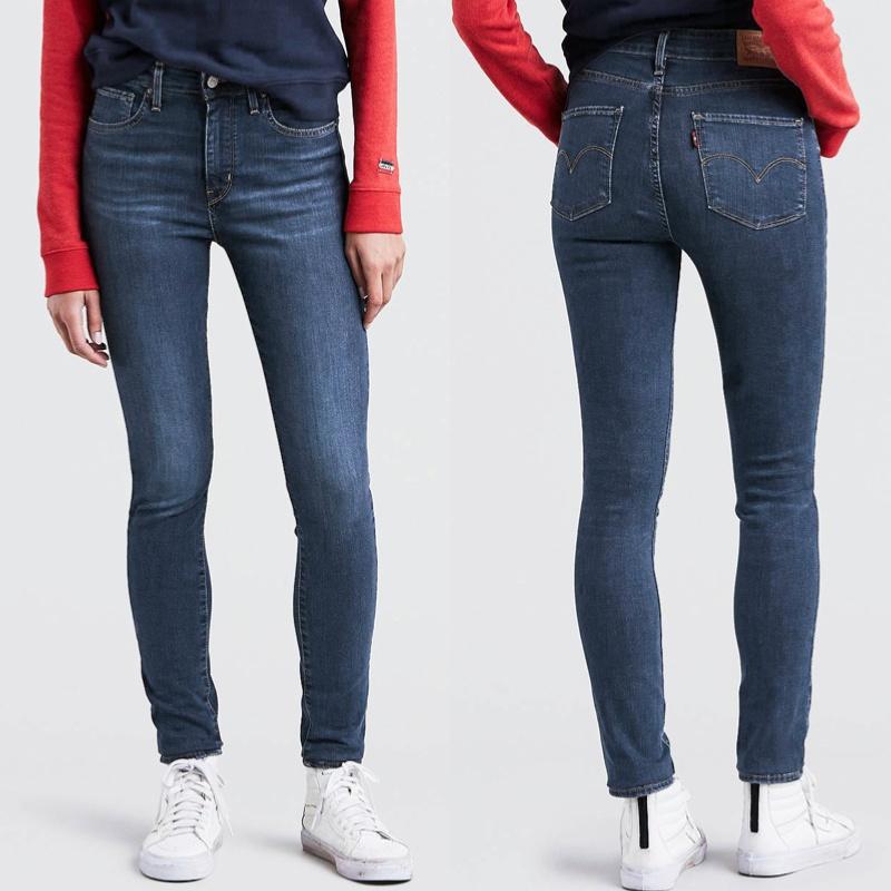 jean levis femme 721 skinny taille haute bleu game on. Black Bedroom Furniture Sets. Home Design Ideas