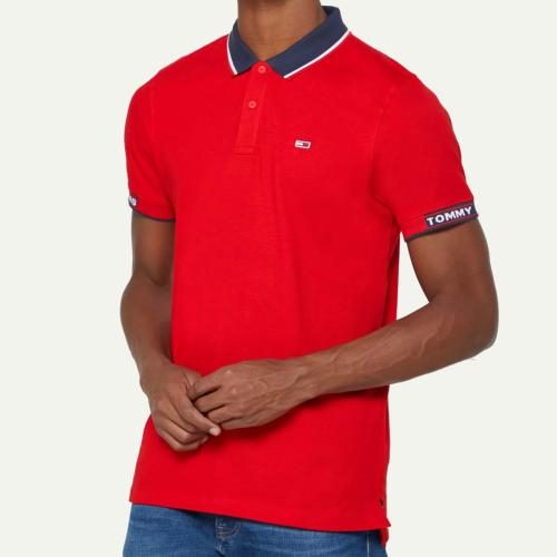 Polo Tommy Hilfiger Jeans homme rouge