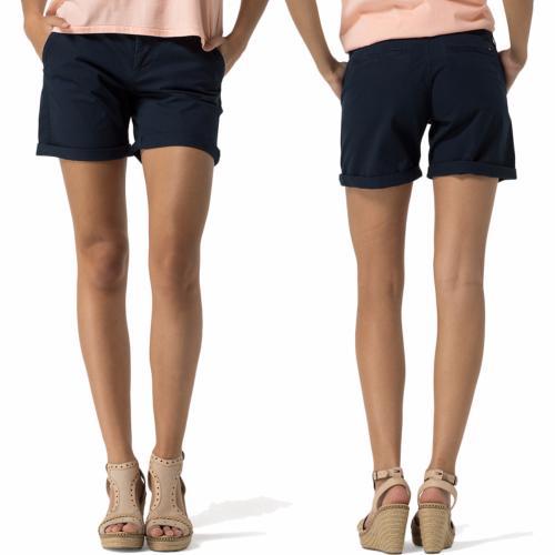 short femme Tommy Hilfiger bleu marine poches chino d09c734e6eb8