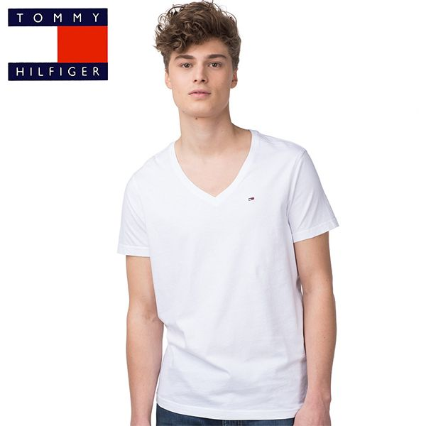 t shirt tommy hilfiger mod le panson blanc pour homme. Black Bedroom Furniture Sets. Home Design Ideas