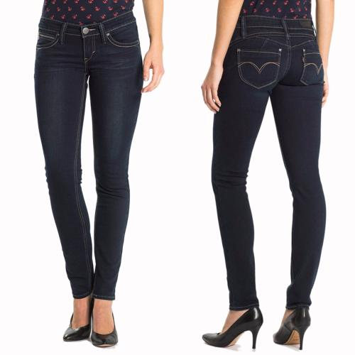 Jean femme Levis Revel Skinny Low Rise délavage Campfire Night