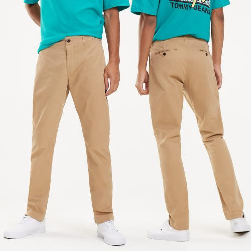Pantalon Chino Tommy Hilfiger Jeans homme beige coupe slim