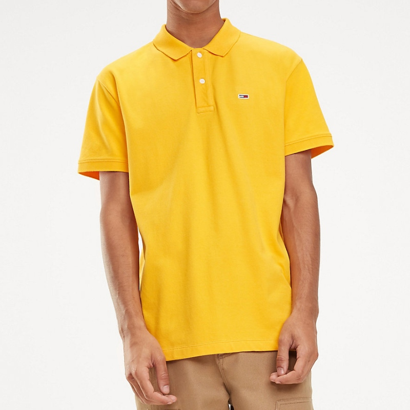 shopping best prices discount shop Polo Tommy Hilfiger Jeans homme jaune
