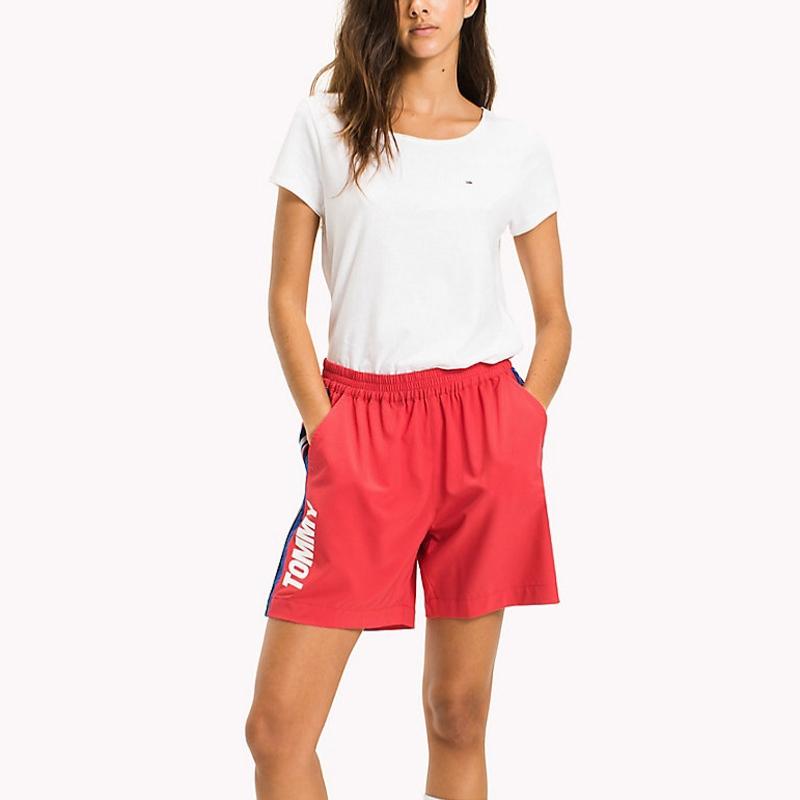 Tee Shirt femme en coton blanc Tommy Hilfiger Jeans 4d7c9fe79f66