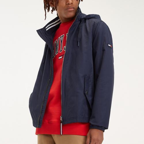 35ea6f91 Blouson léger / veste homme Tommy Hilfiger Jeans bleu marine à capuche  détachable