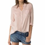 Chemisier Tommy Hilfiger femme rose peach whip