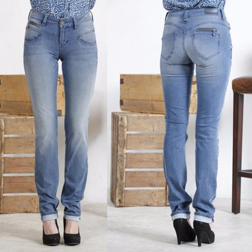 Jean Freeman T Porter femme coupe slim modèle Alexa Bi Stretch used blue