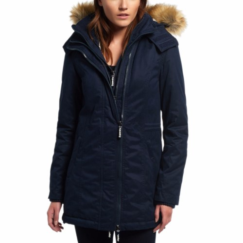 manteau parka femme superdry windparka bleu marine. Black Bedroom Furniture Sets. Home Design Ideas