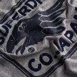 T Shirt Superdry Eagle Co Worn Wash gris pour homme