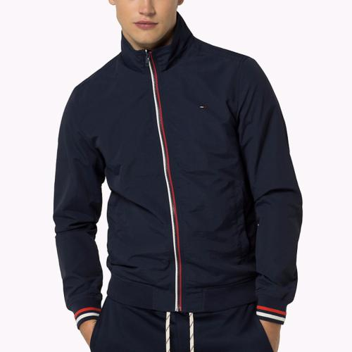 blouson veste doubl e tommy hilfiger jeans bleu marine. Black Bedroom Furniture Sets. Home Design Ideas