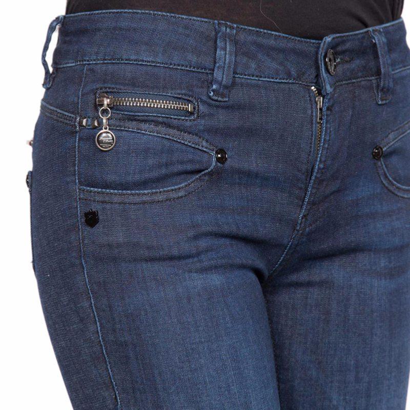 jean femme freeman t porter alexa slim flexy dark blue. Black Bedroom Furniture Sets. Home Design Ideas