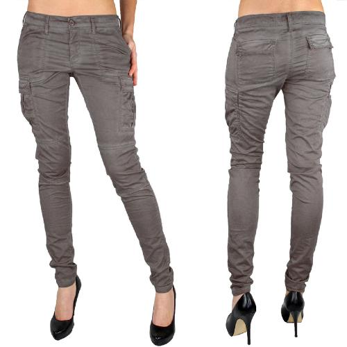 Pantalon cargo le temps des cerises mod le bmac gris zinc - Pantalon treillis femme le temps des cerises ...