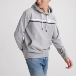Sweat à capuche Superdry homme Core Logo gris