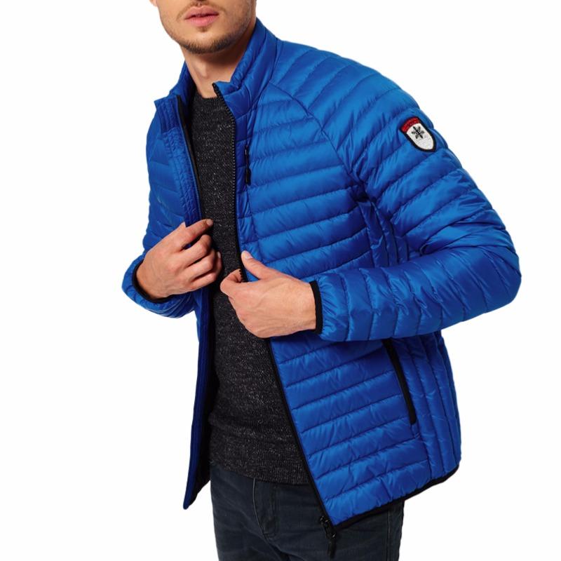 plus récent d8d40 d6a17 Doudoune en duvet Superdry homme modèle Core Down Jacket bleu cobalt