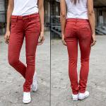 Jean femme Freeman T Porter Alexa Magic Slim rouge brick red